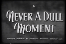 NEVER A DULL MOMENT (1943) DVD THE RITZ BROTHERS, FRANCES LANGFORD