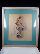 Benjamin Jorj Harris (1904-1957) Airbrush watercolor