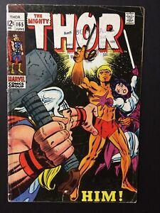 thor #165 1st full adam warlock classic kirby