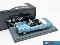 Pontiac Bonneville convertible 1968 met blue NEO44111 1:43
