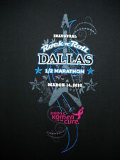 ROCK AND ROLL MARATHON T-SHIRT DALLAS 2010 SMALL BLACK equilibrium tech unused