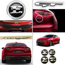 "New OEM Front Rear GT Emblem + 18"" Center Wheel Cap Set for Kia Stinger 17-18"