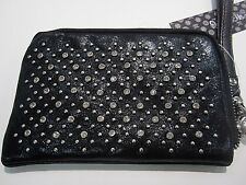 NWT MISS ME Black Sequin Rhinestone Studded  Wristlet VERY CUTE