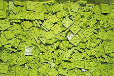LEGO BRICKS (3022)  2 x 2 PLATE GREEN/LIME PAK OF 50 ( lego city,friends,elves )