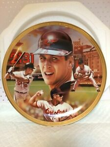 Baseball Collector's Plate Cal Ripken, Jr. In Styrofoam Case W/ Paperwork