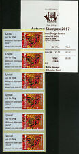 Gibraltar 2017 MNH Year of Rooster Post & Go Autumn Stampex 6v Loc Strip Stamps