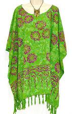 SALDI JASMINE Poncho Top Tunica taglia Forte Hippie ampia, larga T-shirt Frangia