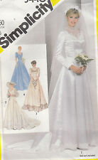 Bride Bridesmaid Wedding MOB Dress Gown Train Simplicity Sew Pattern 5440 Sz 12
