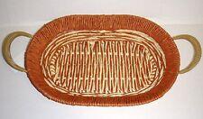 Brotschale Deko Schale Obstschale oval aus Rattan Metallrahmen NEU   09301-06