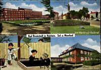 1958 BAD BRAMSTEDT 4 Ansichten Mehrbildkarte AK 1956 Postkarte gelaufen