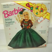#7506 RARE NRFB General Growth Mall Management Holiday Sensation Barbie Gown