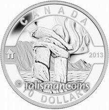 2013 Oh! Canada Series 1 Inuit Inukshuk Native American Symbol $10 Silver Proof