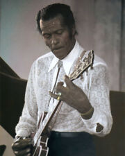"CHUCK BERRY ROCK & ROLL LEGEND SINGER MUSICIAN 8x10"" HAND COLOR TINTED PHOTO"