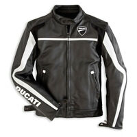 Ducati Men Riding CE Approve Armour Leather Motorcycle Racing Motorbike Jacket