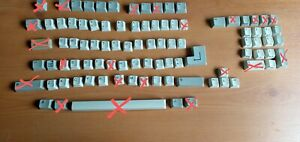 single amiga 500 keyboard key caps with spring and plunger