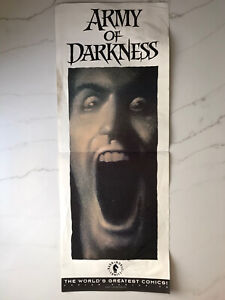ARMY OF DARKNESS * comic promo Poster John Bolton * ASH Evil Dead Bruce Campbell