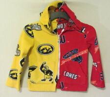 Iowa Hawkeyes/Iowa State Cyclones full zip hooded jacket - handmade kids S ~ EUC