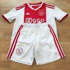 Adidas AJAX AMSTERDAM 2018-19 Kids Football Home Kit Size 11-12 Years, White Red