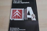 123268) Citroen - Modellprogramm - Prospekt 11/1988