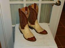 NOCONA Mens CowboyWestern Boots Sz 7.5 A (narrow) Brown Beige USA Two-tone USA