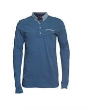 Duck & Cover Bryson Long Sleeve Polo/Petrol - Extra Large  WAS £45.00