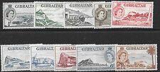 GIBRALTAR SG145/54 1953 DEFINITIVE SET OT 1/- MTD MINT