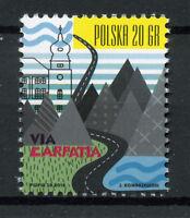Poland 2018 MNH Via Carpatia 1v Set Tourism Landscapes Mountains Stamps