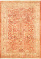 "Hand-knotted Carpet 6'0"" x 8'8"" Peshawar Oushak Traditional Wool Rug"