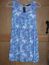 Hermosa Para Mujer Vestido Azul y Púrpura MOTEL ROCAS Talla XS