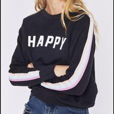 NWT SPIRITUAL GANGSTER Happy Classic Crew Sweatshirt SZ SMALL!