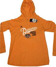 Adidas MLS Houston Dynamo Kick Sweep WMNS Long Sleeve T Shirt Hoodie SZ L - NWT