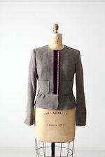Etro wool blend jacket blazer gray fitted coat size M