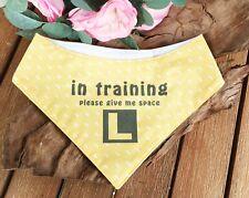 """In Training Please Give Me Space"" LEMON Handmade Dog Bandana,  M/L Dog"