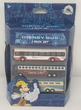 Disney Parks Disney Bus 3 Pack Set Die-Cast Cruise Line Transport Express - NEW