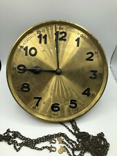 Nice Antique German Isgus Grandfather Clock Movement For Parts Or Restoration