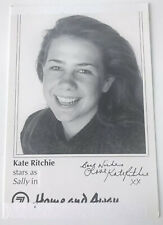 KATE RITCHIE *Sally* HOME AND AWAY Pre-Signed Vintage Cast Fan Card •Damaged•