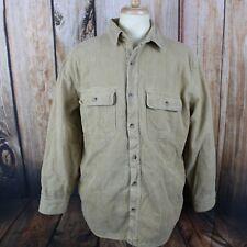 WOOLRICH Men's Large Barn Field Chore Coat Shirt Jacket Fleece Lined Outdoor VTG