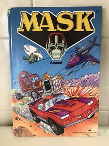 MASK Annual Hardcover Book 1986 Kenner Parker Toys