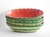 Bowl Emcora Promotions Watermelon Fruit Dessert Bowl Dishwasher Safe Hand Paint