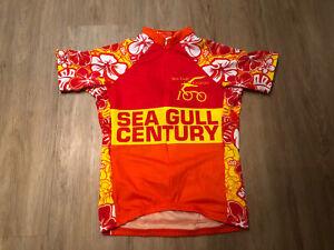 Reviwear Floral Pattern Short Sleeve Cycling Jersey Size S, Orange, Pink, Yellow