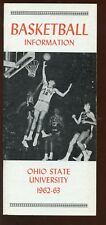 1962/1963 NCAA Basketball Ohio State University Media Guide NRMT