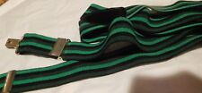 St. Patrick's Day  Green Navy Black striped SUSPENDERS BRACES MINT MENS DANDY