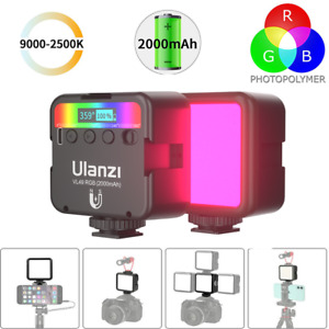 Ulanzi VL49 RGB LED Video Light 2000mAh Vlog Fill Light Phone On Camera light