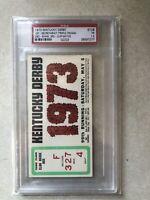 1973 KENTUCKY DERBY TICKET SECRETARIAT WINS TRIPLE CROWN PSA 1.5