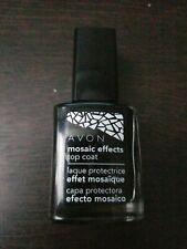 Avon Mosaic Effects Top Coat White 12 ml 0.4 fl oz polish mani pedi (A)