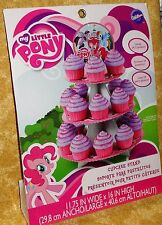 My Little Pony Cupcake/Treat Stand, Cardboard,Wilton,1512-4700, Pink,Blue
