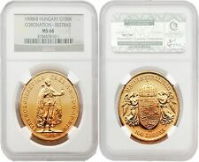 Hungary 1908KB Restrike 100 Korona Gold NGC MS-66