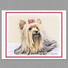 6 Yorkshire Terrier Yorkie Blank Art Note Greeting Cards