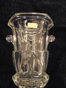 Magnificent Bucket A Champagne Crystal White Cut Hand Old New Stock