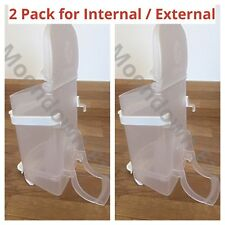 2pk Plastic SEED HOPPERS PLASTIC Internal or External CAGE FINCH & CANARY etc